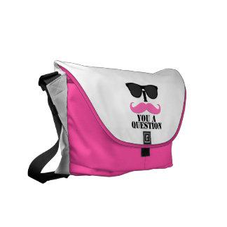 Sunglasses Pink I Moustache You A Question Commuter Bag