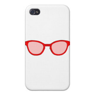 Sunglasses Red Rim Pink Lens The MUSEUM Zazzle Gif Cases For iPhone 4