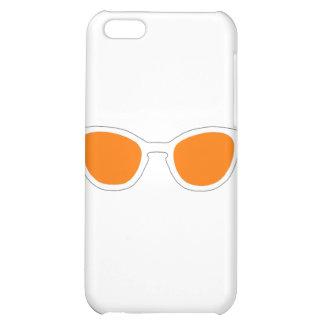 Sunglasses White Rim Orange Lens The MUSEUM Zazzle iPhone 5C Covers