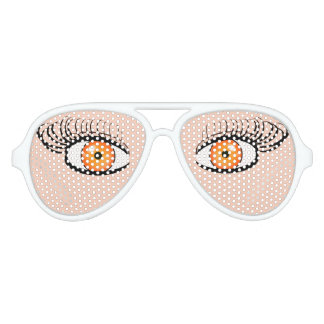 Sunglasses With Orange Eyes