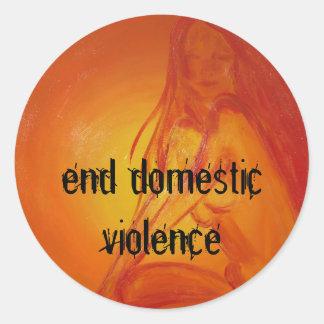 sungoddesss, end domestic violence round sticker