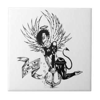 Sunken Love - Punk Rock Pin-Up Tattoo Tile