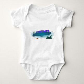 Sunken Narrowboat Baby Bodysuit
