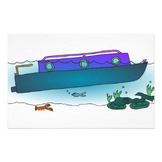 Sunken Narrowboat Stationery
