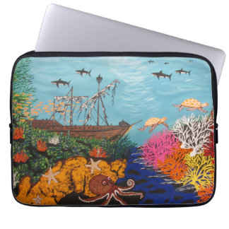 Sunken Treasure Ship Laptop Sleeve