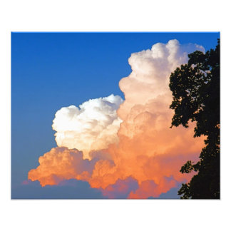 Sunkissed Clouds Photography Photo Print