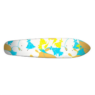 Sunkissed Flowers - White 20 Cm Skateboard Deck