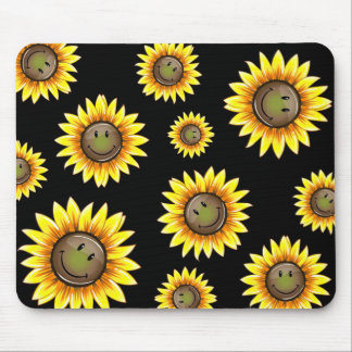 Sunkissed Smiling Sunflower Mouse Pad