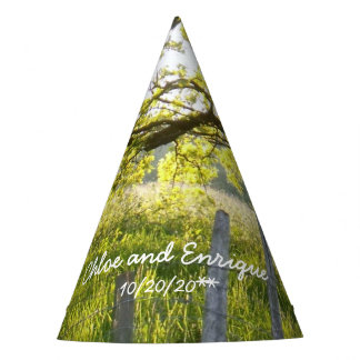 Sunlight And Trees Personalized Wedding Party Hat