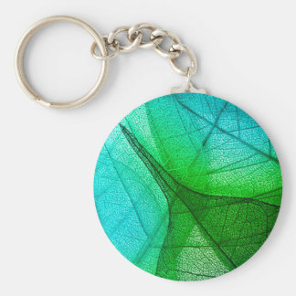 Sunlight Filtering Through Transparent Leaves Key Ring