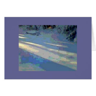 Sunlight on Snow Winter Holiday Card