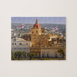Sunlight on the church in the town of Victoria Jigsaw Puzzle
