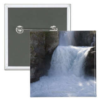 Sunlight On Waterfalls On The Side Of A Mountain 15 Cm Square Badge