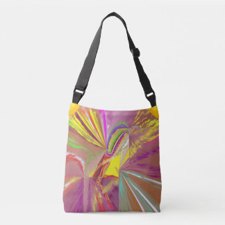 Sunlight Rays of Sun in Happy Colors Crossbody Bag