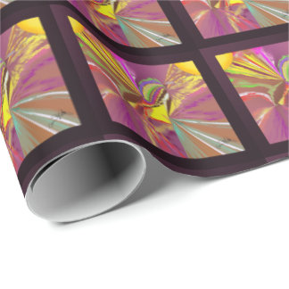 Sunlight Rays of Sun in Happy Colors Wrapping Paper