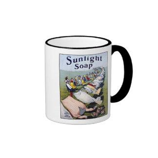 Sunlight Soap Ad Ringer Coffee Mug