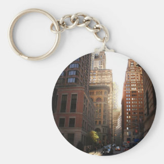 Sunlight Through Skyscrapers, New York City Key Ring