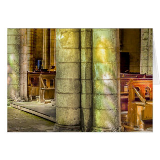 Sunlight through Stained Glass Greeting Card