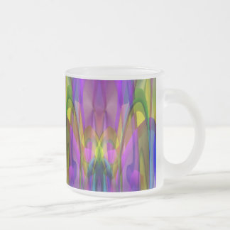 Sunlight Through the Clerestory Stained-Glass Look Frosted Glass Coffee Mug