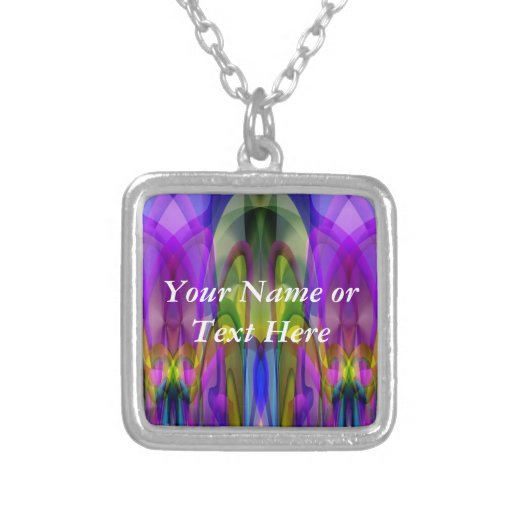 Sunlight Through the Clerestory Stained-Glass Look Personalized Necklace