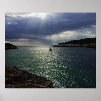 sunlight yacht print