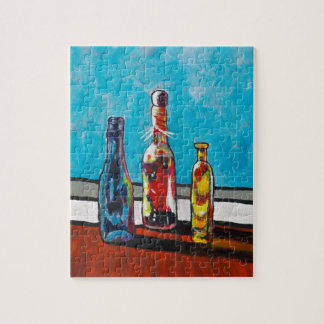 Sunlit Bottles Jigsaw Puzzle