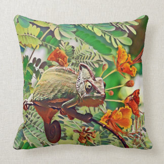 Sunlit Chameleon Cushion
