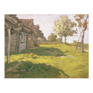 Sunlit Day. A Small Village, 1898 Postcard