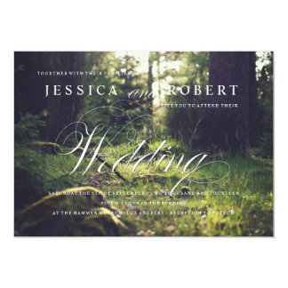 Sunlit Forest Rustic & Elegant Wedding Invitation