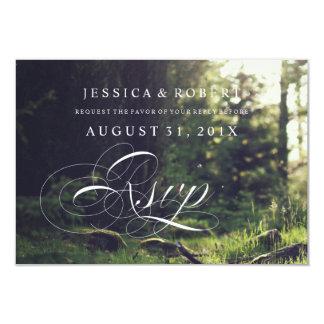 Sunlit Forest Rustic & Elegant Wedding Rsvp Cards 9 Cm X 13 Cm Invitation Card