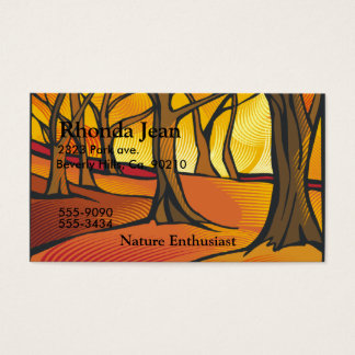 Sunlit Forest Set Business Card