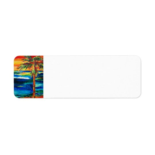 Sunlit Ocean Return Address Label