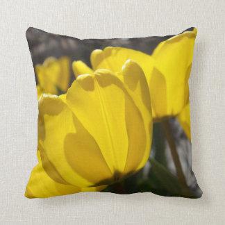 Sunlit Tulips Throw Pillow