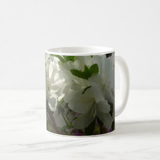Sunlit White Azaleas Beautiful Spring Flowers Coffee Mug