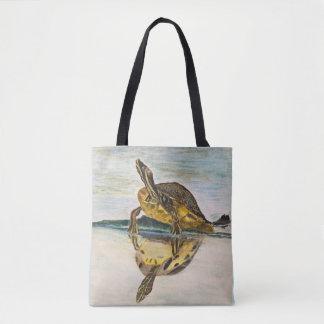 Sunning Turtle Tote Bag