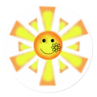 Sunny 13 Cm X 13 Cm Square Invitation Card