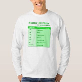 'Sunny 16 Rule for Photographers' T-Shirt