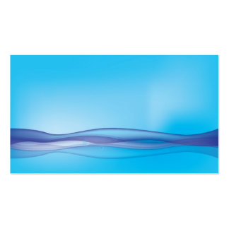 Sunny abstract blue waves business card templates