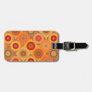Sunny Abstract Floral Design Luggage Tag