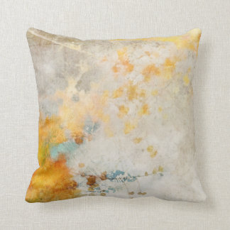 Sunny Abstract Painterly Pilow Throw Pillow