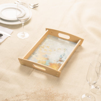 Sunny Abstract Painterly Serving Tray