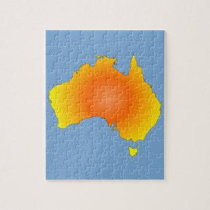 Australia Map Jigsaw.Sunny Australia Map Jigsaw Puzzle