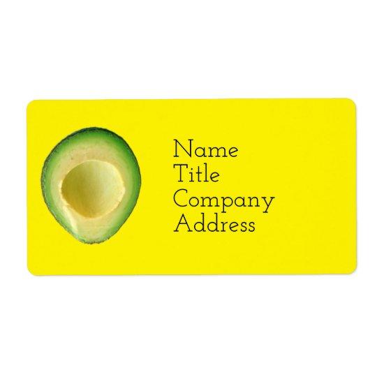 Sunny Avocado Spirit 4Rita Shipping Label