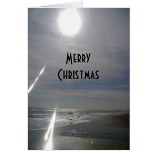 """SUNNY BEACH"" MERRY CHRISTMAS/HAPPY NEW YEAR TOO GREETING CARD"
