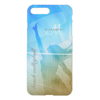 Sunny beach sand surf and sky women's volleyball iPhone 7 plus case