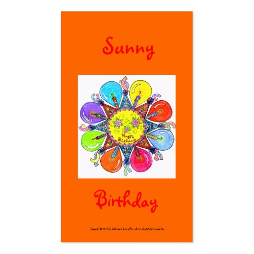 Sunny Birthday Series #1 Business Cards