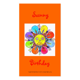 Sunny Birthday Series #1 Pack Of Standard Business Cards