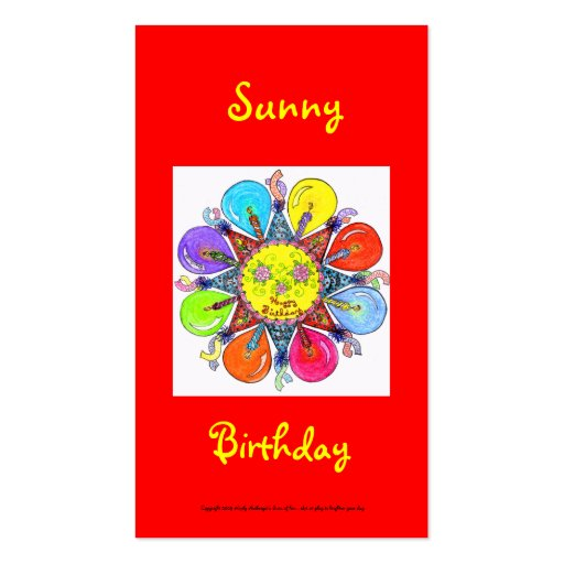 Sunny Birthday Series #2 Business Card