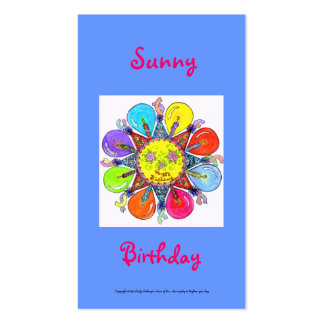 Sunny Birthday Series #3 Pack Of Standard Business Cards