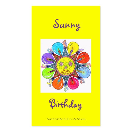 Sunny Birthday Series #4 Business Card Template